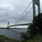 Verrazano–Narrows Bridge from the upper wall of the fort
