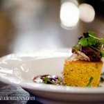 Duck Confit with Goat Cheese Polenta