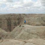 This is my husband showing the Scale of just a small part of the Badlands