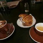 Coffees and croissant