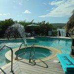 island pool/ swim up bar