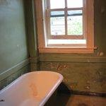Bathroom sill as rifle rest