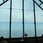 Executive Lounge window with ocean view