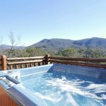 Most secluded hot tub with views in the Smoky Mountains