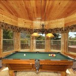 Game room with amazing secluded views.
