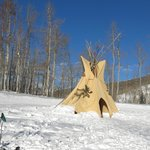 Teepee in snow