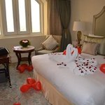 They decorated our room for our honeymoon.