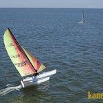 Navegando en catamaran en Isla Canela