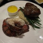 Filet mignon & butter poached lobster tail
