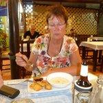 Annette beim besten Curry Essen
