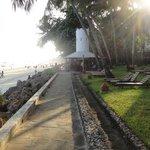 Blick auf Swingbar + Strand
