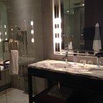 Huge bathroom with double sinks