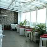 'The Gourmet Terrace' restaurant on the 5th.Floor with beautiful views & great food.