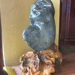 Giant Stone piece in hotel lobby