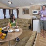Inside Static Holiday Caravan