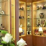 Moorcroft Pottery display in store
