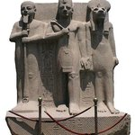 Ramesses II flanked by Ptah and Sekhmet