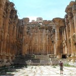 Inside the Bacchus temple
