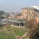 Front view of the Crowne Plaza Hotel Kathmandu-Soaltee from our room