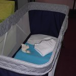 Travel cot & teddy