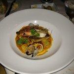 Black Bass w/ Seafood Paella