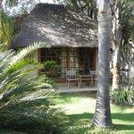 cottage in garden