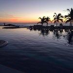 Morning poolside sunrise