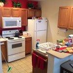 kitchen area fully stocked!