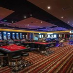 Gaming floor with live roulette tables