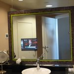 The bathroom in-mirror TV