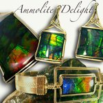 Canada's beautiful Opal known as Ammolite is indigenous to Alberta. Exquisite fossilized squid.