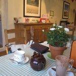 The cafe inside.