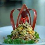 Khmer food salad.