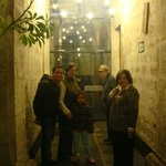Entrance of the hotel....everybody ready to go out for dinner!