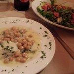 cod fish and salad
