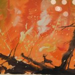 Fire from Bambi by Tyrus Wong