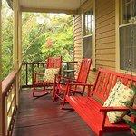 Many porches at the inn