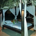 private cabanas on the beach
