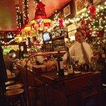 The bar at holiday time
