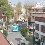 Street view from roof terrace