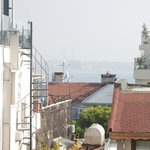 Spot the Bosphorus (from roof terrace)