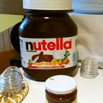 Breakfast: the biggest jar of Nutella in the world!
