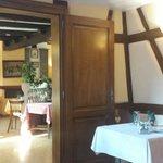 Salle à l'étage. Restaurant traditionnel Alsacien.