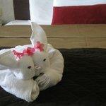 Origami towels
