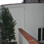 Balcony overlooking the wall