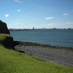 View of Reykjavik from Videy Island