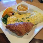 The omelet was delicious!