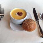 Squash Soup with Nutmeg Crema