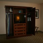 Bedroom Television and Armoire