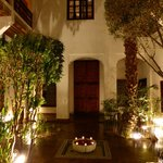 The riad, internal garden